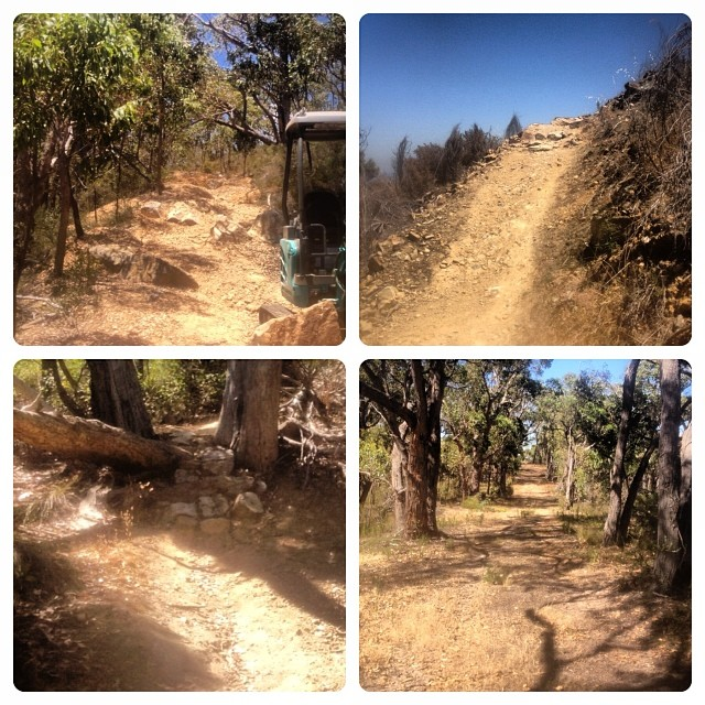 New tech sections, new passing opportunities and a heap of track clearing and pruning. Eagle Park is looking good for this Sundays Summer Series race and the following weeks MTBA National Series Round 1.