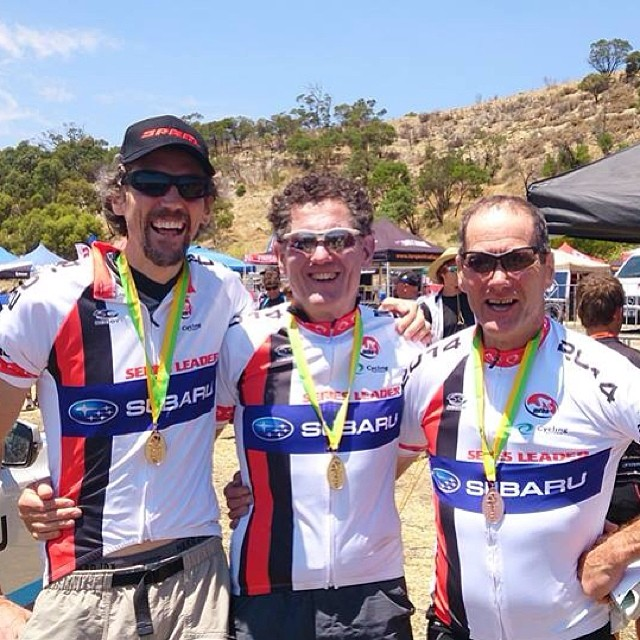 Just a few of the fantastic performances from AMBC members at the MTBA National Series Rd 1 at Eagle Park. Ollie Klein, John Allison and Clyde Tucker, first place in Masters, Super Masters and Grand Masters XCO respectively. Well done guys!